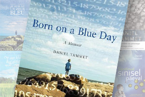 Montage of covers of Born on a Blue Day