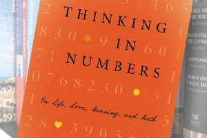 Montage of covers of Thinking in Numbers